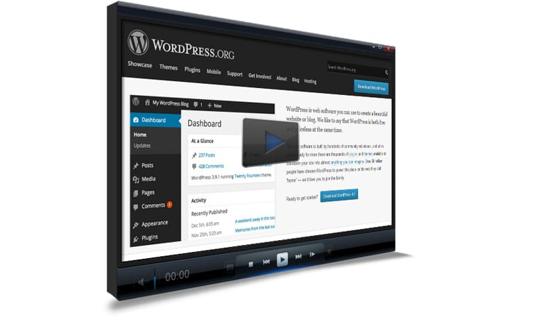 WordPress on video player