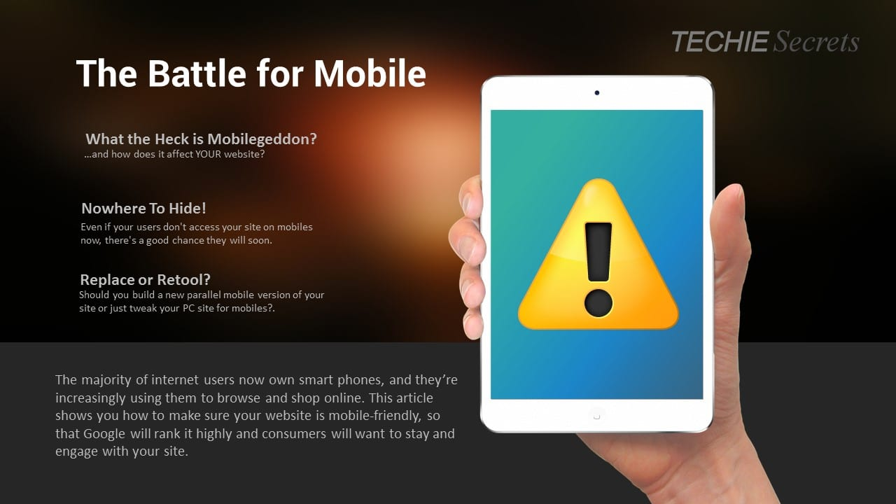 Battle for Mobile header image with points from the main article